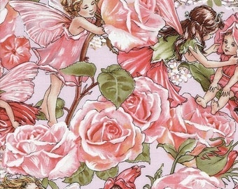 Cicely mary barker etsy flower fairy rose sweet garden pink cicely mary barker fabric 21 inches last in stock mightylinksfo