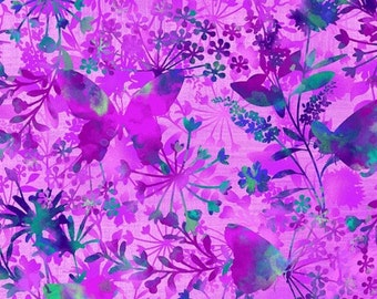 Butterfly Pink Mariposa Meadow Studio E Fabric 1 yard