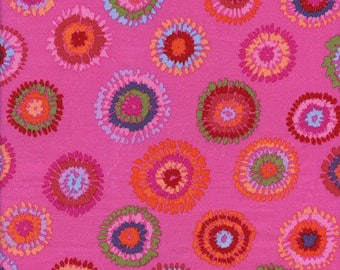 Kaffe Fassett Plink Magenta Circles Fabric 1 yard