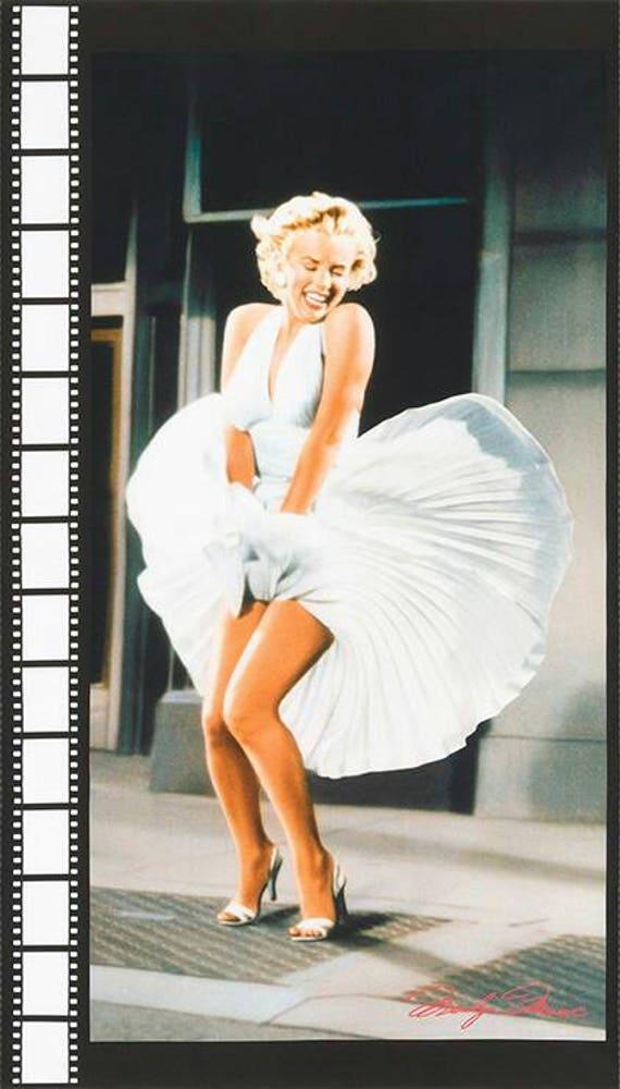 Panneau de tissu Marilyn Monroe robe blanche emblématique Kaufman