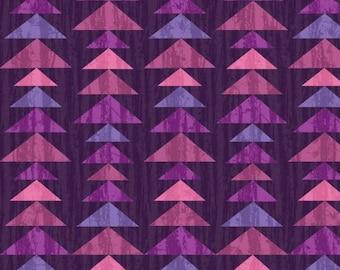 Tree Geo Eggplant Enchanted Forest Studio E Fabric