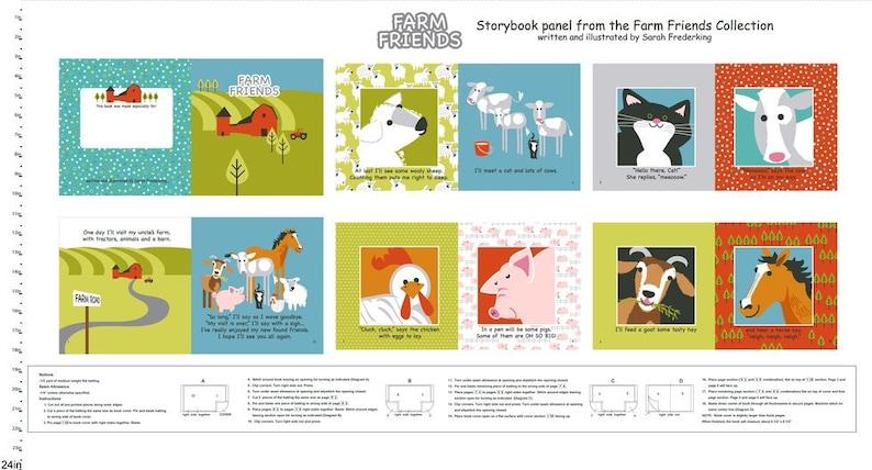 Farm Illustration Pigs Farm Printed Fabric Panel Make A Cushion Upholstery Craft