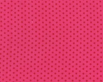 Polka Dots Spot On Pomegranate Kaufman Fabric 1 yard