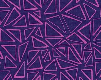 Triangles Purple Panache Robert Kaufman fabric