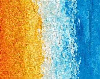 Sunset Van Gogh Museum Robert Kaufman Fabric