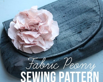 Fabric Peony Sewing Pattern & Tutorial - Instant Download