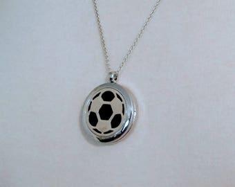 VENTE football argent boule aimanté huile essentielle aromathérapie diffuseur collier