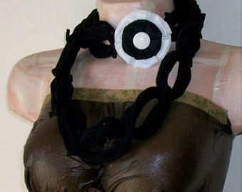 SALE All Wrapped Up Black Infinity Looped T shirt Jersey Scarf