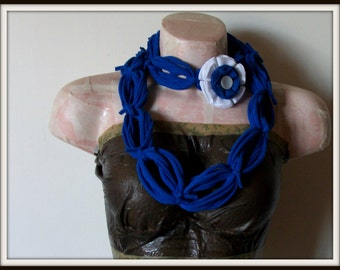 SALE All Wrapped Up Blue Infinity Looped T shirt Jersey Scarf