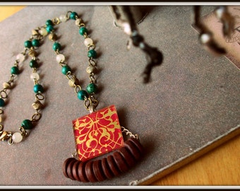 SALE Swinging Pendant Necklace