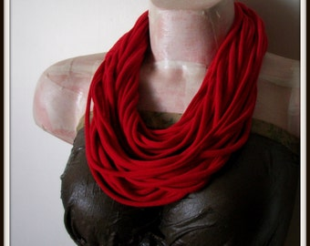 SALE Red Infinity Jersey Scarf