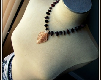 SALE Burgundy Chip Necklace