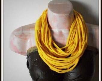 SALE Soft Yellow Infinity Jersey Scarf