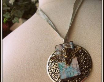 SALE Vintage Angel Necklace