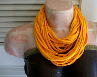 SALE Golden Yellow Infinity Jersey Scarf