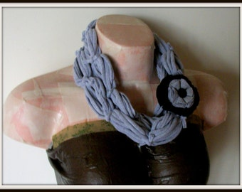 SALE All Wrapped Up Light Gray Infinity Looped T shirt Jersey Scarf