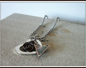 SALE Forever Heart Charm Necklace SALE