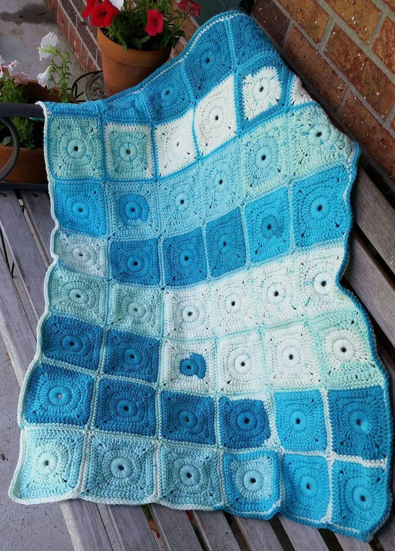 Weighted Crochet Blanket Granny Square Weighted Anxiety Etsy