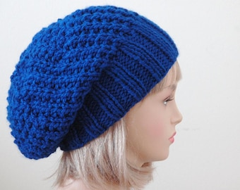 0312fbf4357 Royal Blue Knit Slouchy Hat