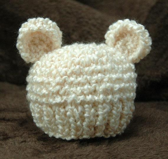 Knitting Pattern Baby Bear Hat Pdf Etsy