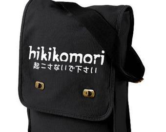 d051cd102f Hikikomori Bag canvas messenger bag anime laptop bag japan geek graduation  gift travel bag