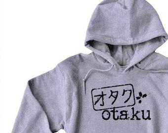 Otaku hoodie - anime sweatshirt - Japanese kanji otaku stamp - Japanese fandom sweatshirt - anime manga otaku - Japan geek gift