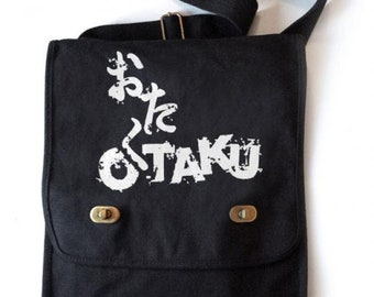 52fcd472bc OTAKU messenger bag anime fandom vertical messenger bike bag Japan geek  gift anime field bag school bag