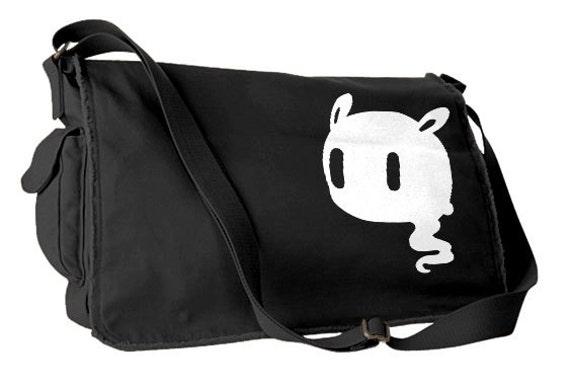 Creepy Cute Messenger Bag pastel grunge bag Kawaii Ghost gothic lolita  school bag pastel goth laptop bag 060fcb173c