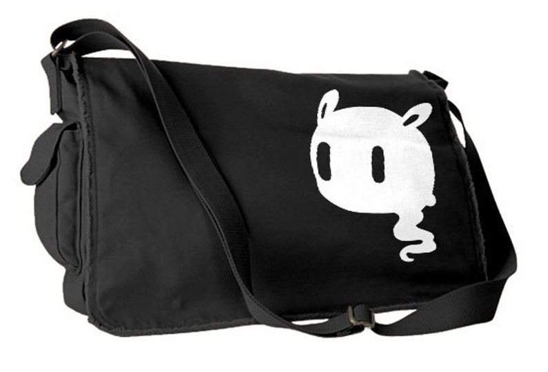Creepy Cute Messenger Bag pastel grunge bag Kawaii Ghost gothic lolita  school ba... Creepy Cute Messenger Bag pastel grunge bag Kawaii Ghost  gothic lolita ... 86025bc26bada