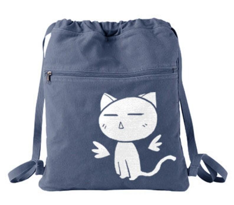 Kawaii Kitty Backpack Angel Wings drawstring bag Kawaii cat  f0502e61aad41