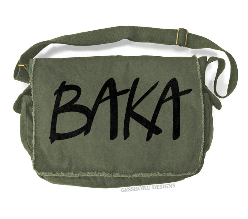 70c93a3f06 Anime Bag baka messenger bag anime school bag japanese laptop