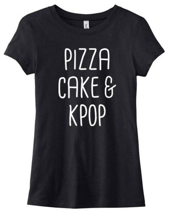 KPOP Sweatshirt pizza cake & kpop sweater cute korean sweatshirt kawaii hipster k-pop fandom Ny89ZF