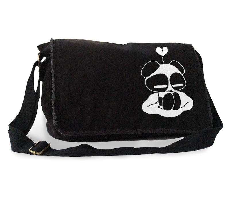 Kawaii Panda Messenger Bag kawaii panda on a cloud laptop fairy kei school  bag super cute Harajuku ... 72f2cd3e0e57d