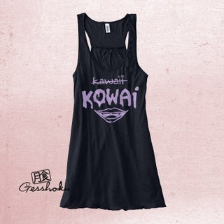 Aesthetic Clothing Kowai not Kawaii Pastel goth top Vampire lips Nu goth clothing Womens flowy gothic top