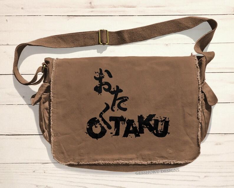 Otaku Messenger Bag Anime laptop bag canvas school bag anime convention bag japanese otaku japan manga