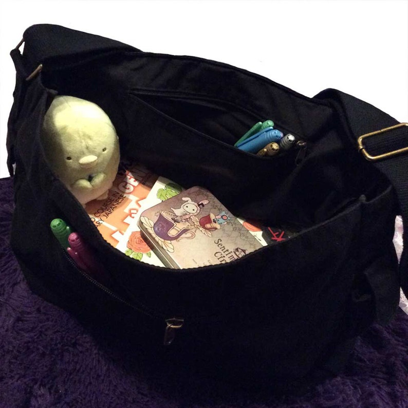 Japanese Gift Love Japan Messenger Bag Canvas fabric soft large messenger bag My Heart in Japan Shoulder Crossbody Bag