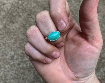 9 - Simple Turquoise Ring - Silversmith - Metalsmith Jewelry