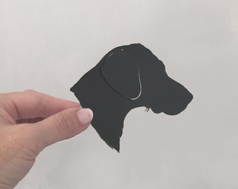 Custom Silhouette Pet Portrait Wall Art featuring Profile of Dog or other pet