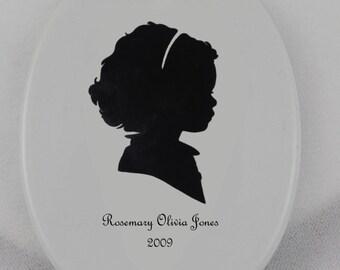 Custom Silhouette Portrait & Ornament