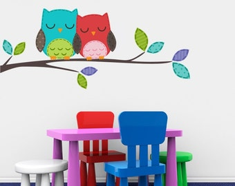 Nursery Love Owls Nursery Vinyl Wall Decals - Sticker Art Custom Home Decor