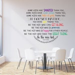 Be The Nice Kid Wall Decal Multiple Colors - Custom Wall Art