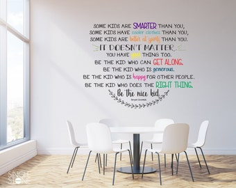 Be The Nice Kid Wall Decal Multiple Colors   Custom Wall Art