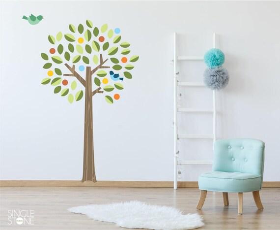 Bunte Kinderzimmer-Baum mit Vögeln Wandtattoo - Wand Wandbild Thema Custom  Home Decor