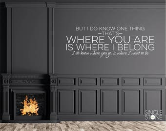 Song Lyrics Wall Decal Dave Matthews Band - Vinyl Words Custom Home Decor