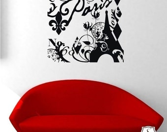 Wall Decals Paris In Love - Vinyl Text Wall Words Stickers Art Graphics Custom Home Decor
