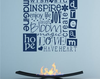 Wish Big Wall Decal Quote - Vinyl Text Wall Words Stickers Art Custom Home Decor