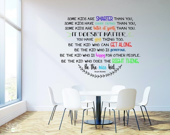 Be The Nice Kid Wall Decal Multiple Colors - Bryan Skavnak Custom Wall Art