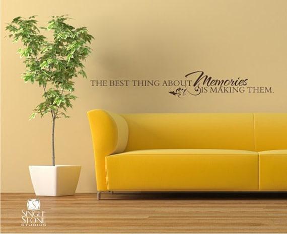 Memories Wall Quote Decal Vinyl Word Art Custom Home Decor | Etsy