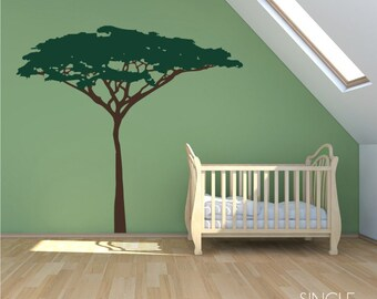 Acacia Jungle Safari Tree wall decal - wall mural theme Custom Home Decor