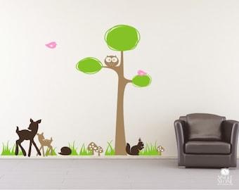 Nursery Tree Wall Decal Woodland Nursery - Wall Stickers Custom Home Decor
